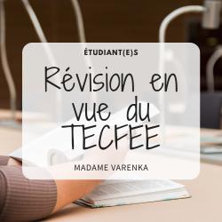 Petite révision en vue du TECFEE (PowerPoint)
