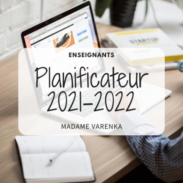 Planificateur gratuit 2021-2022