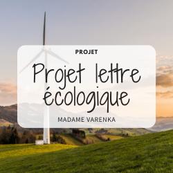 Projet lettre écologique
