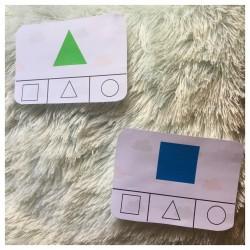 cartes à pinces formes