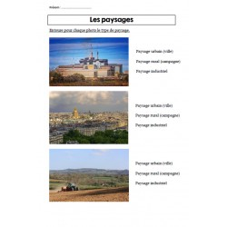 Les paysages (exercices)
