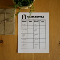 Scattergories ANGLAIS