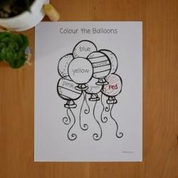 Coloriage par couleur ANGLAIS