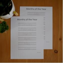 Les mois de l'année ANGLAIS