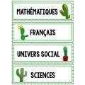 Menu de la journée - Cactus