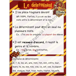 Classes de mots - Harry Potter