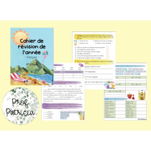 Cahier de révision en français - 3e cycle