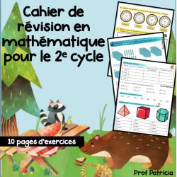 Cahier de révision  - Math - 2e et 3e cycle