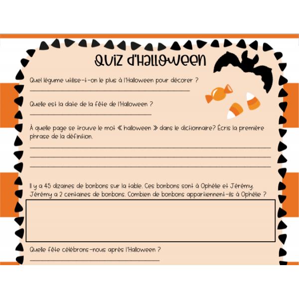 Quiz d'Halloween 2e & 3e cycle