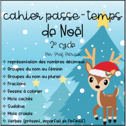 Cahier passe-temps Noël - 2e cycle
