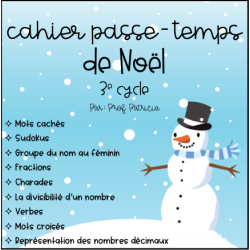 Cahier passe-temps Noël - 3e cycle