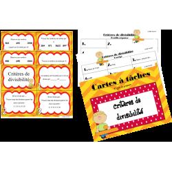 Critères de divisibilité - 3e cycle