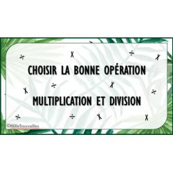 Carte à tâche - Multiplication ou division