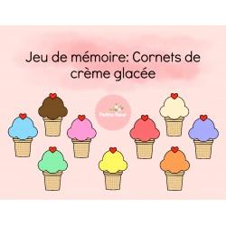 Jeu de mémoire: Cornets de Crème glacée