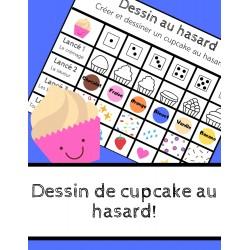 Dessin de cupcake au hasard