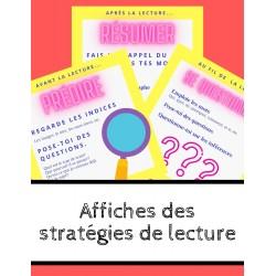 Affiches stratégies de lecture