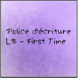 Police d'écriture - First Time