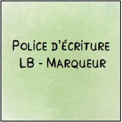 Police d'écriture - Marqueur