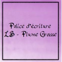 Police d'écriture - Plume grasse