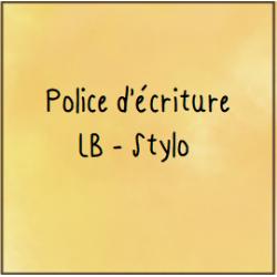 Police d'écriture - Stylo