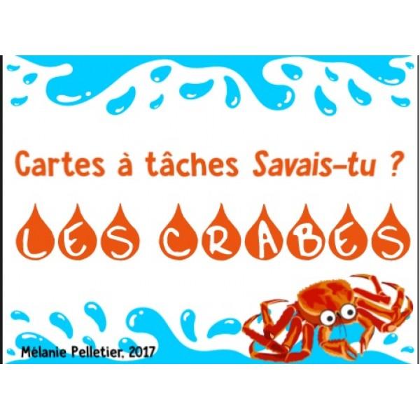 Cartes à tâches Savais-tu ? Les crabes