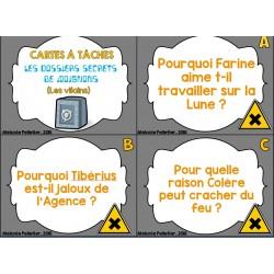 Cartes tâches Agent Jean Secrets Moignons