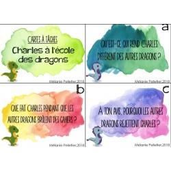 Cartes à tâches Charles à l'école des dragons