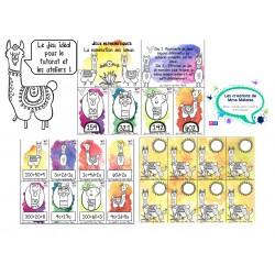 Jeux numération lamas
