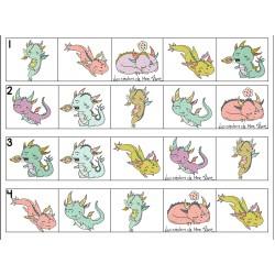 Atelier dragons préscolaire suites logiques