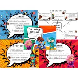 Académie des mots affichage classes de mots