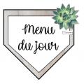 Succulentes (Menu et matières)
