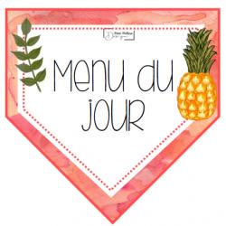 Ananas (Menu et matières)