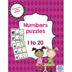 Puzzles des nombres en anglais[1 to 20]