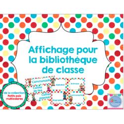 Affichage pour la bibliothèque de classe
