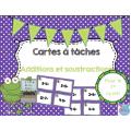 Cartes à tâches {Additions et soustractions}