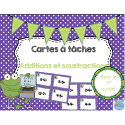 Cartes à tâches {Additions et soustractions}