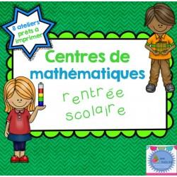 Ateliers de mathématiques {La rentrée}