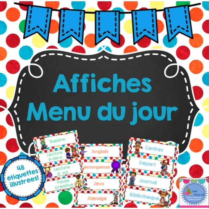Affiches Horaire De La Journ U00e9e