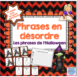 Phrases en désordre de l'Halloween
