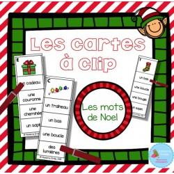 Cartes à clip {Noël}