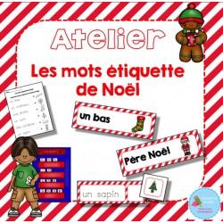 Atelier Étiquettes mots (Noël)