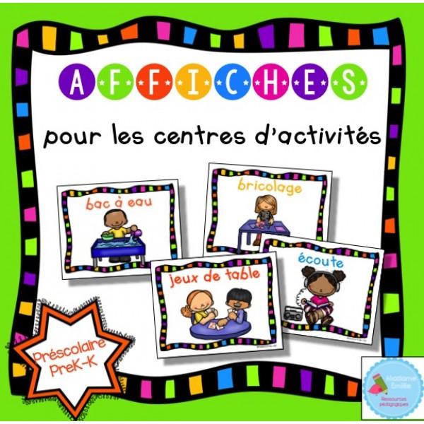 Affiches centres d'activité