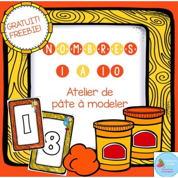 GRATUIT Les nombres {atelier de pâte à modeler}