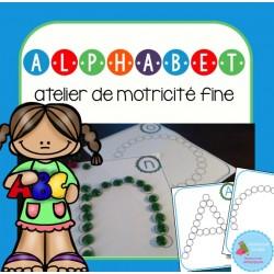 Atelier de motricité fine (alphabet)