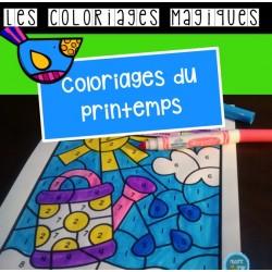 Coloriages magiques {Printemps}