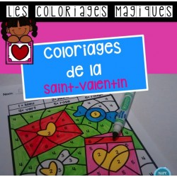 Coloriages magiques de la Saint-Valentin