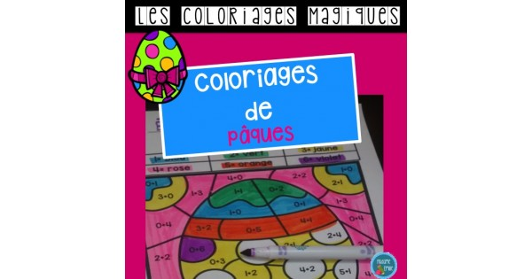 Coloriage Paques Magique.Paques Coloriages Magiques