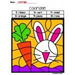 Pâques (coloriages magiques)