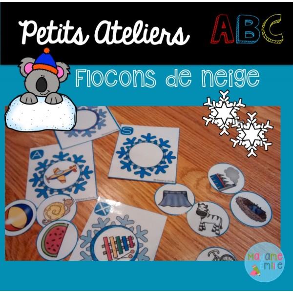Atelier ABC (flocons de neige)