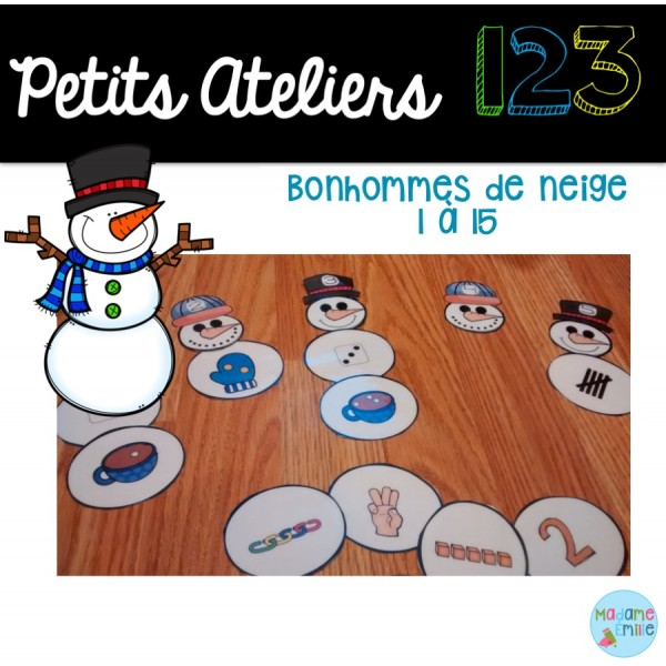 Atelier 123 Bonhommes de neige